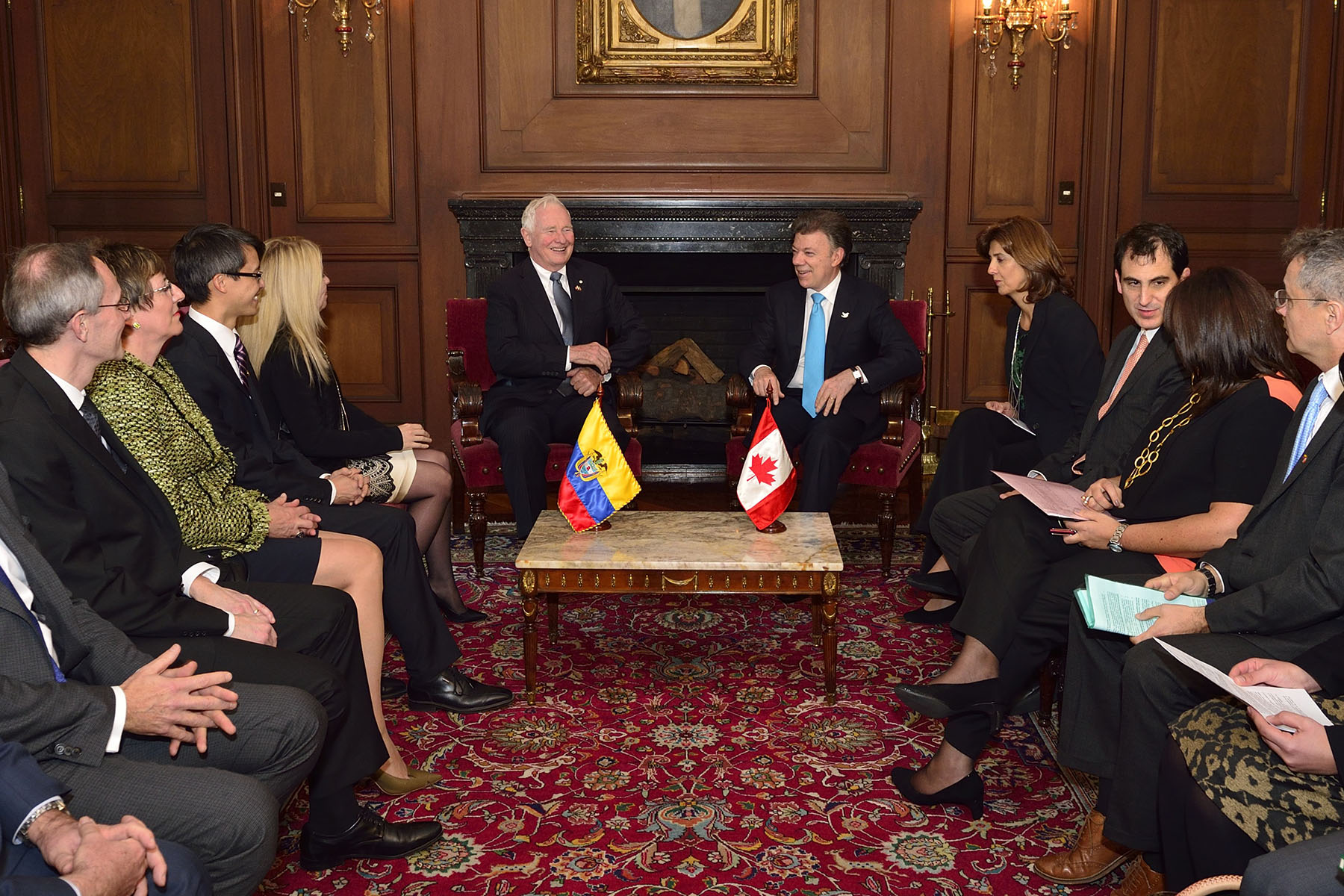 The Governor General met with President Santos Calderón to discuss key areas of Colombian engagement with Canada.