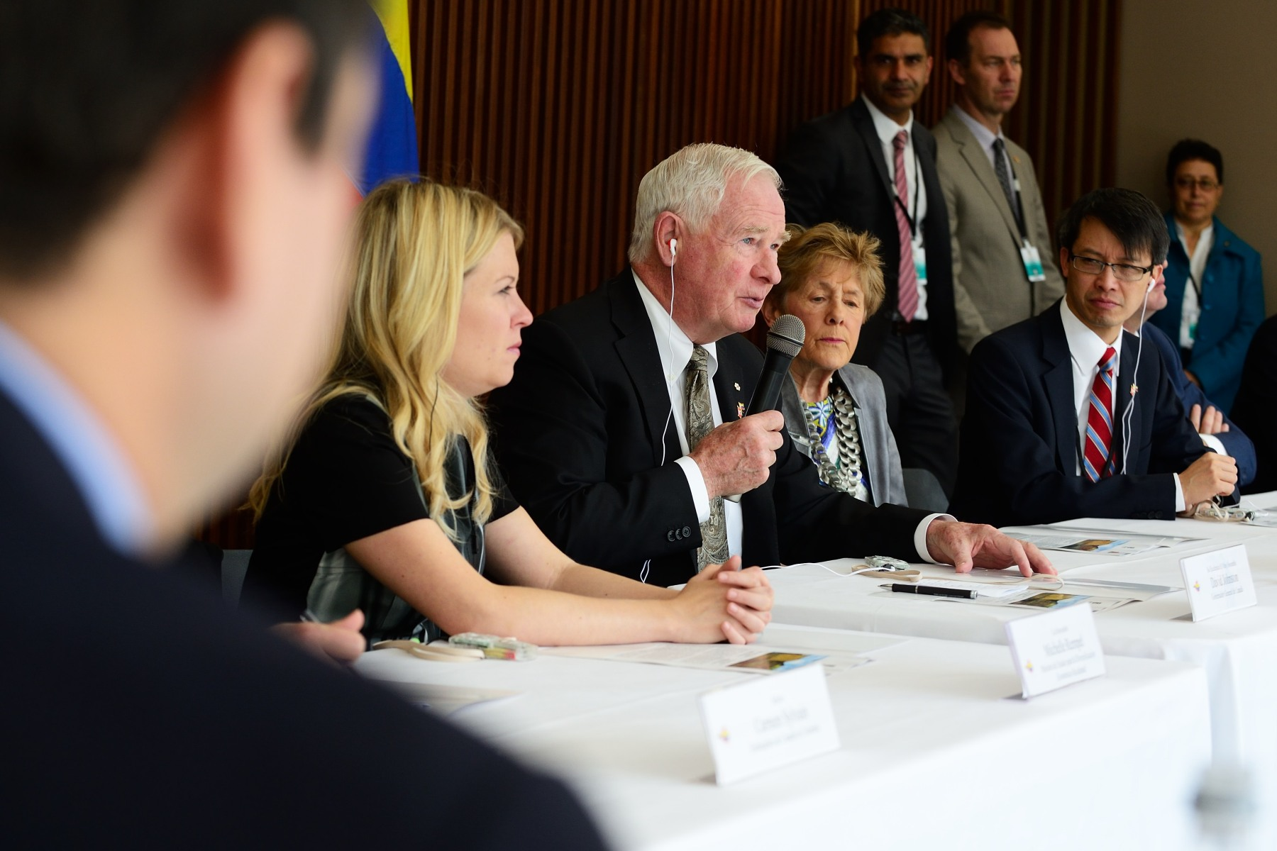 The Governor General participated in a round table with Colombian Leaders on Peace and Reconciliation Initiatives.