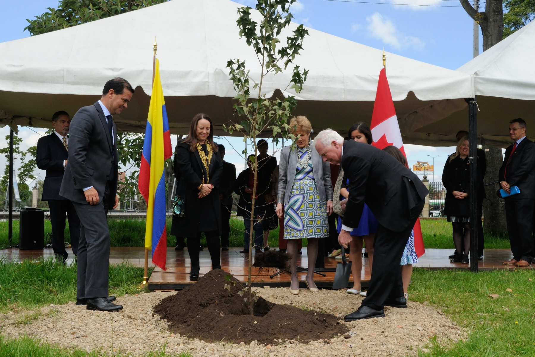 As a symbol of peace and in honour of his visit, the Governor General planted a tree on the grounds of the Museum.