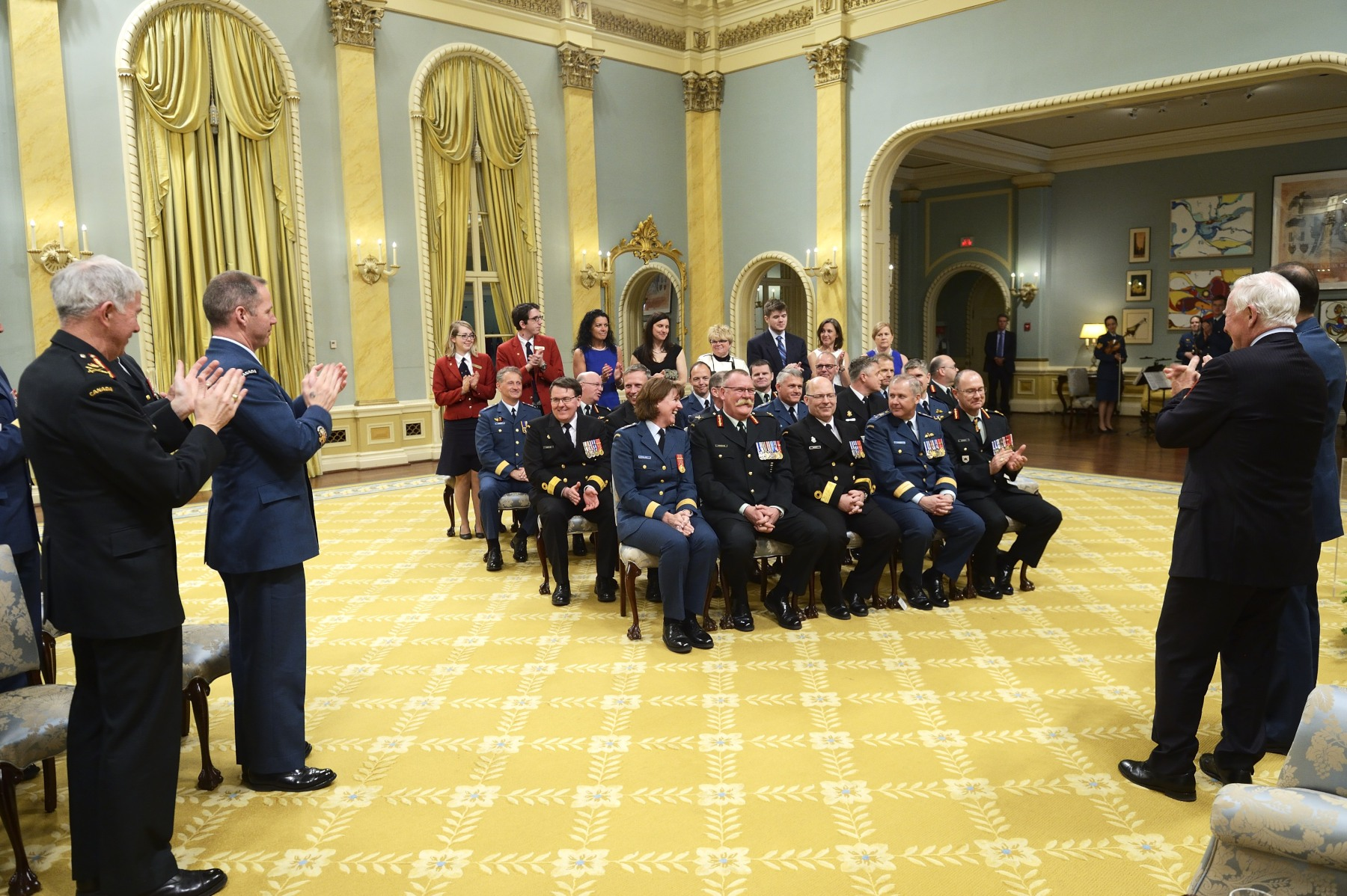 The members honoured during the ceremony were newly appointed general officers and flag officers.