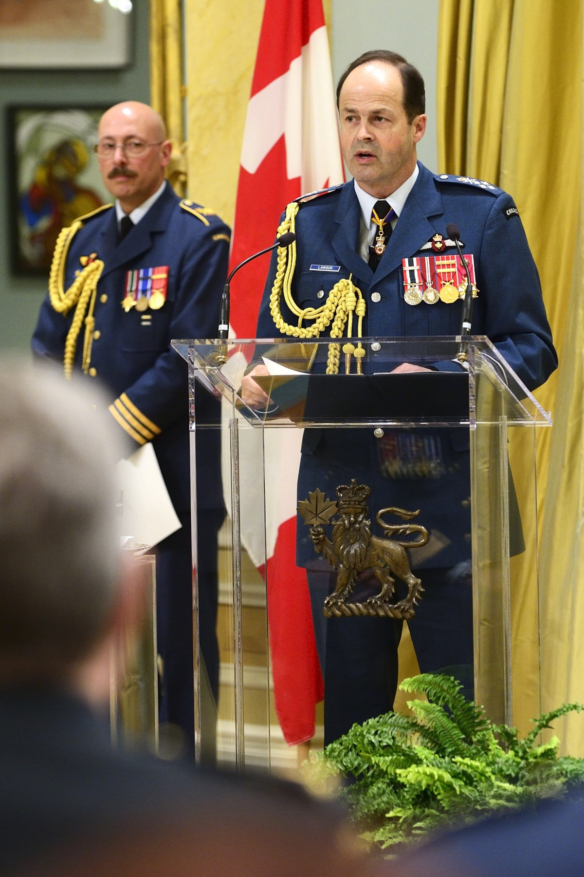Chief of the Defence Staff General Tom Lawson thanked and congratulated members that were honoured during the ceremony.