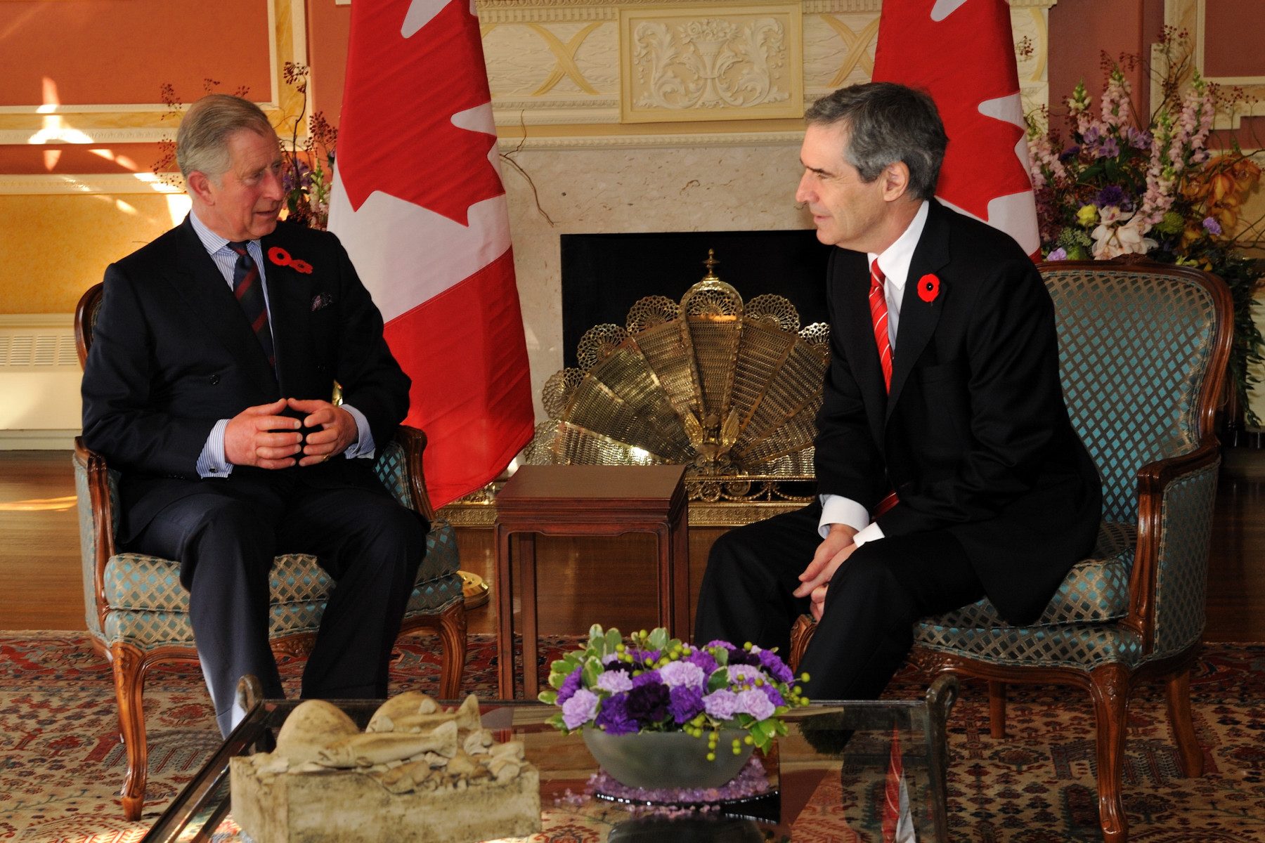 The Leader of the Official Opposition Michael Ignatieff also had the chance to meet The Prince of Wales at Rideau Hall.
