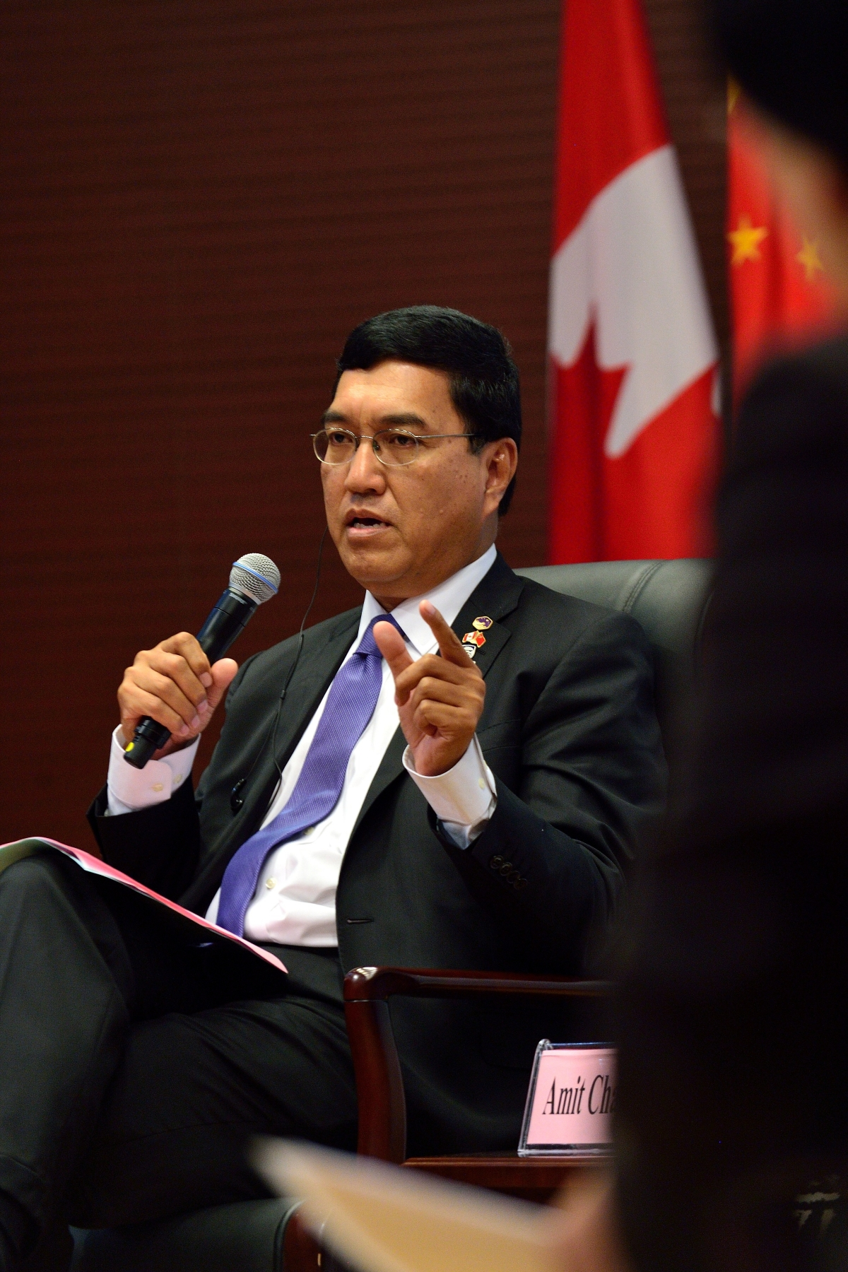Dr. Amit Chakma, President and Vice-Chancellor of Western University during the discussion on 'Fostering Learning and Innovation'.