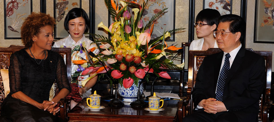 Meeting with President Jintao