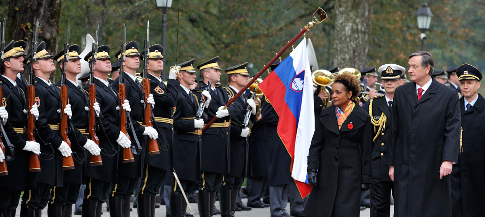 Welcome Ceremony in Slovenia