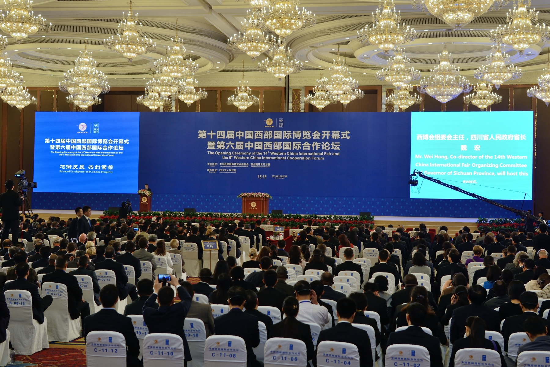 The forum is a venue for China's Vice-Premier and other international leaders to exchange opinions on the theme of 'Balanced development and common prosperity.'