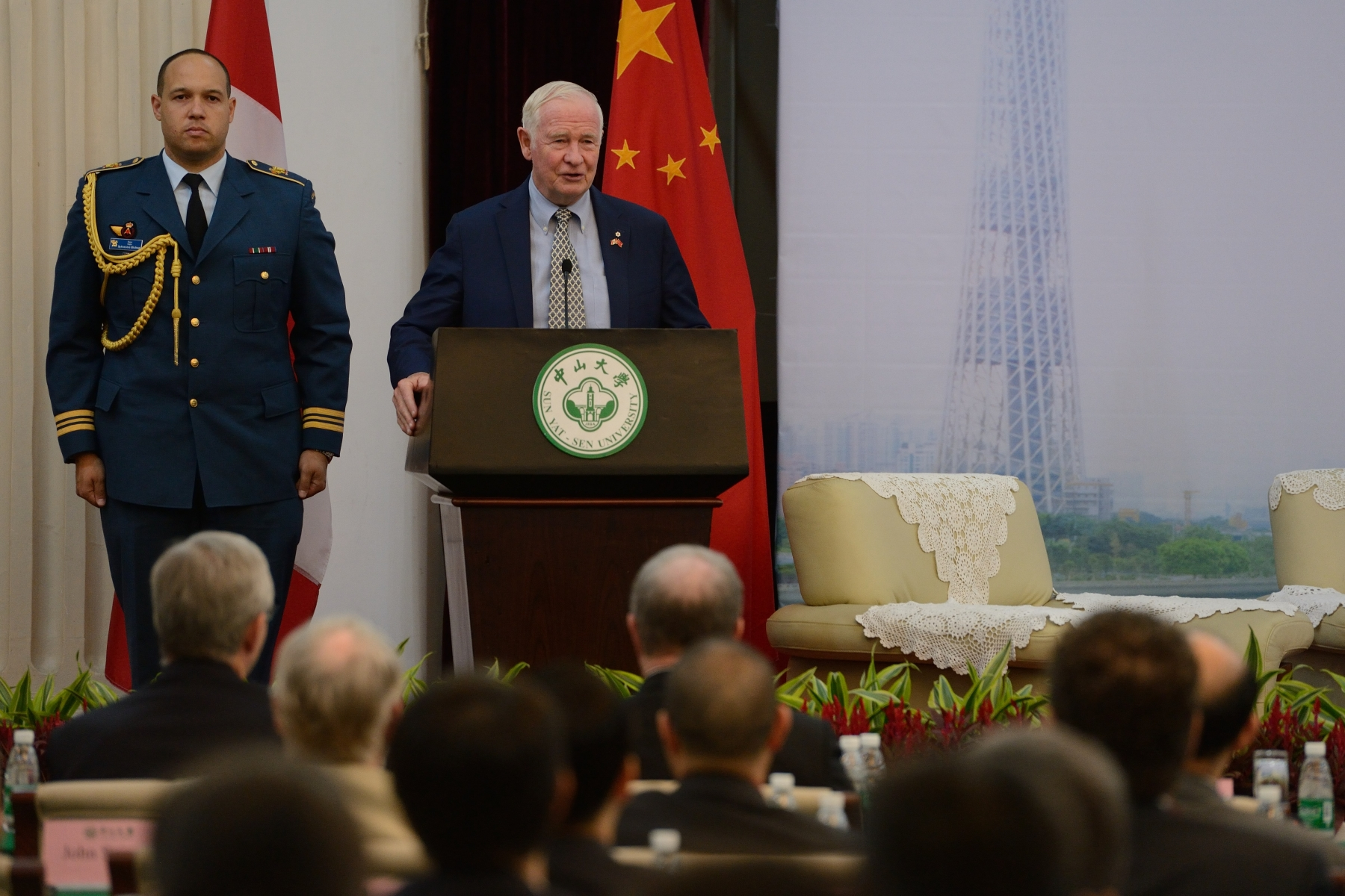 His Excellency then delivered a speech on the future of innovation and its impact on the Canada-China relationship.