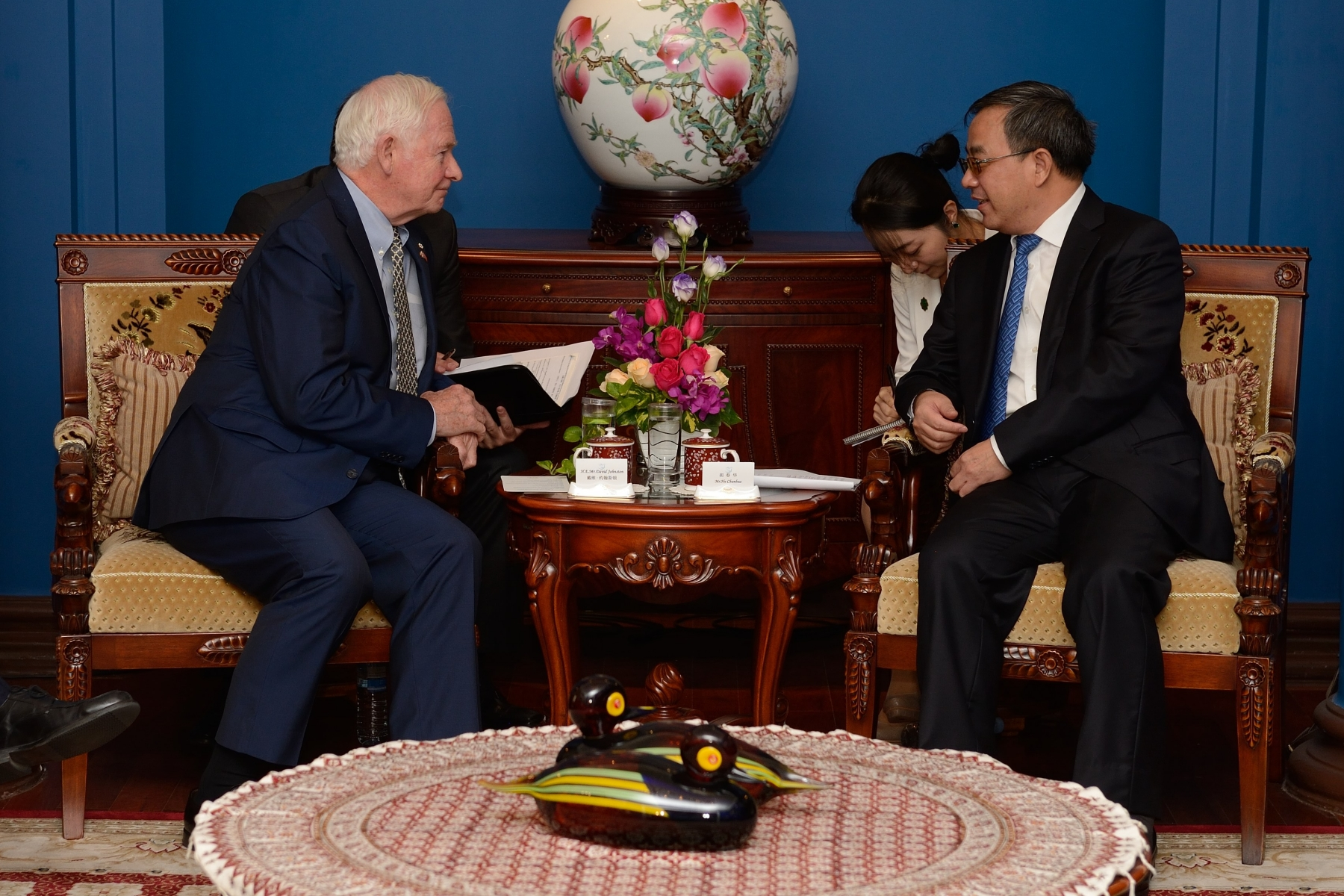 The Governor General met with His Excellency Hu Chunhua, Party Secretary of Guangdong Province to underscore the strength of the relationship between Canada and South China.