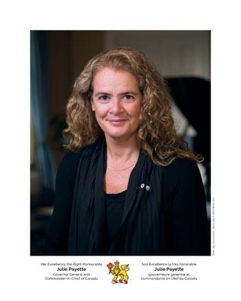 Photo of Her Excellency the Right Honourable Julie Payette