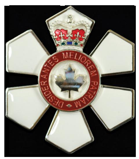 Order of Canada Officer (O.C.) medal.