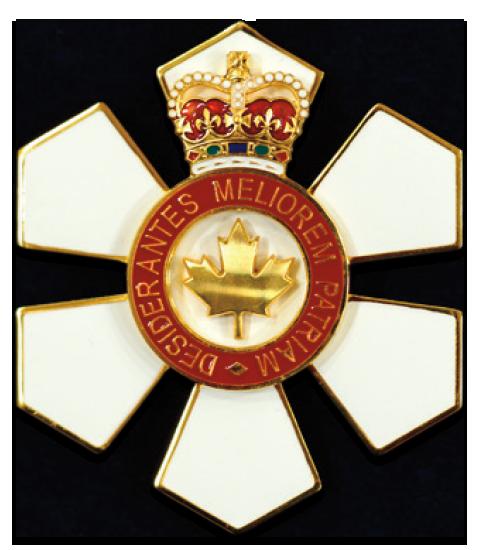 Order of Canada Member (C.M.) medal.