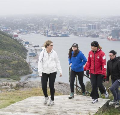 Later, the Governor General invited members of the public to join her for a hike at the Signal Hill National Historic Site.