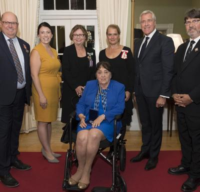 During the evening reception, the Governor General presented one Meritorious Service Medal (Civil Division) and two Sovereign's Medals for Volunteers to three recipients.