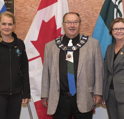 The Governor General and Lieutenant Governor then met with Wally Andersen, the Mayor of Happy Valley-Goose Bay.