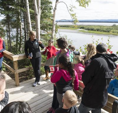The Birch Island Boardwalk was built in partnership with the city of Happy Valley-Goose Bay and a not-for-profit organization called Healthy Waters Labrador.