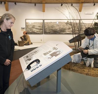 Next, Her Excellency visited the Labrador Interpretation Centre in North West River.
