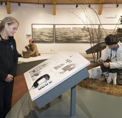Next, Her Excellency visited the Labrador Interpretation Centre in North West River.
