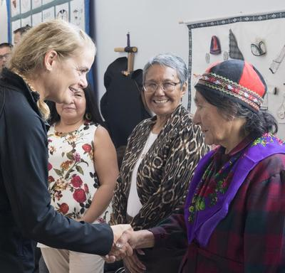 Afterwards, Her Excellency attended a reception where she met with community members from North West River.