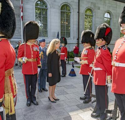 Revue de la Garde de cérémonie