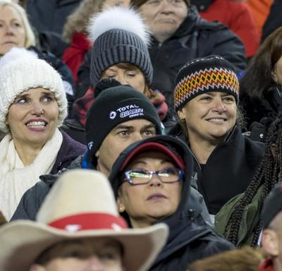 Fans in the stands.