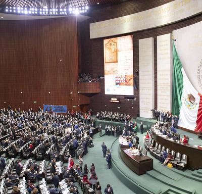 Une photo prise à l'intérieur du congrès.