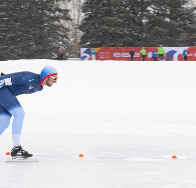 A speedskater on the course.