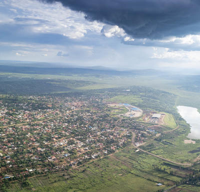 Picture of Rwanda taken from the air.
