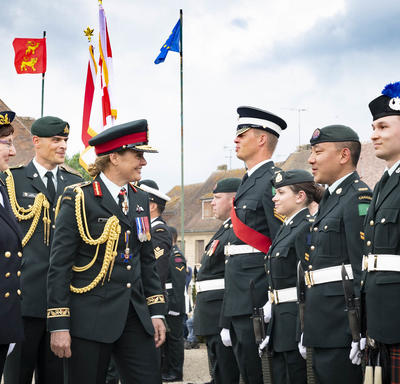 The Governor General is inspecting the guard.