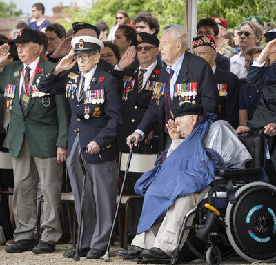 Veterans salute.