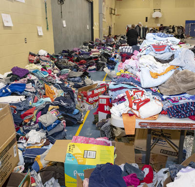 A photo of a donation center.