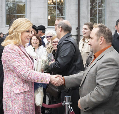 The President met members of the Croatian community.