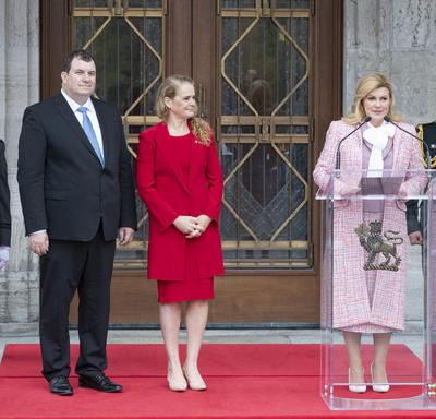 The President of the Republic of Croatia delivered remarks in front of Rideau Hall.