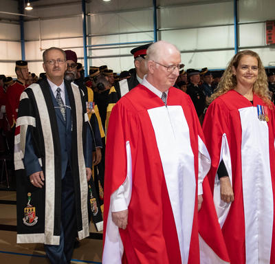 The Governor General enters the convocation ceremony.