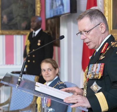 General Vance delivers remarks.