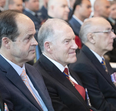 Former Chiefs of the Defence Staff attend the ceremony.