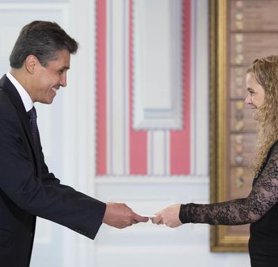 His Excellency Juan José Ignacio Gómez Camacho, Ambassador of the United Mexican States, presented his letters of credence.