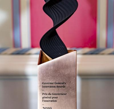 Governor General's Innovation Awards trophy.