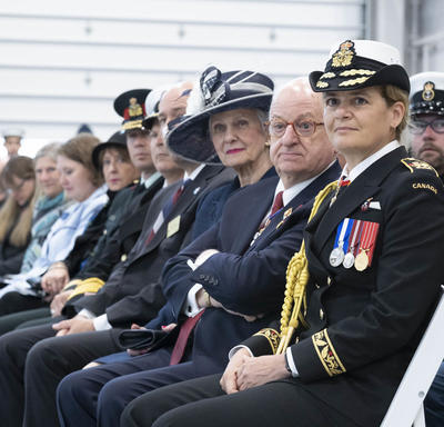 The Governor General is sitting in the audience.