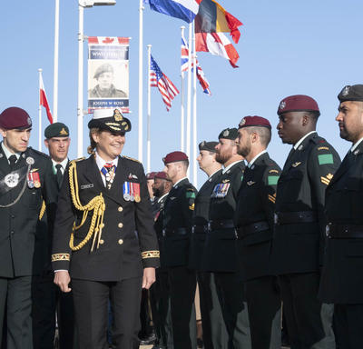 The Governor General reviews the guard.