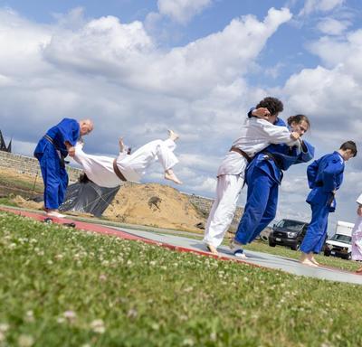 Judo Québec did a demonstration.