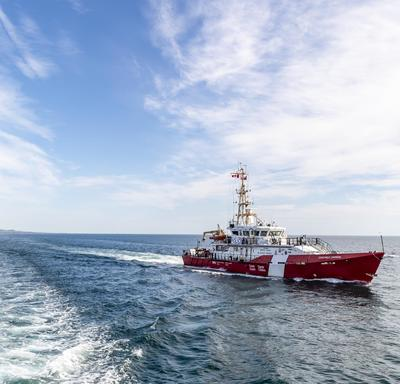 A photo of the CCGS Baie de Plaisance, a Canadian Coast Guard ship, at sea.