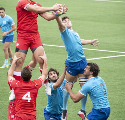 Canada's men rugby team played against Uruguay.