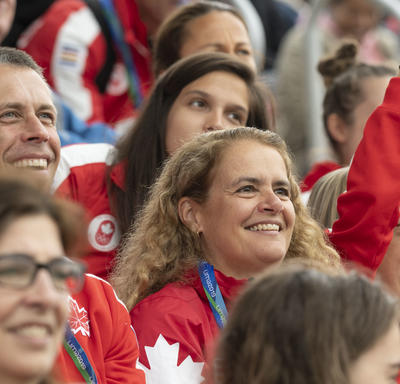 Her Excellency cheered on Canadian athletes.