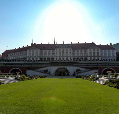 Une photo du château royal de Varsovie.