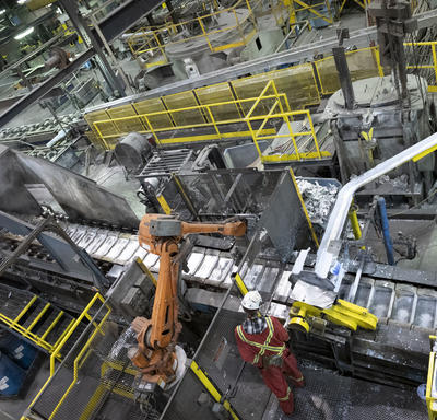 Photo of mining process.