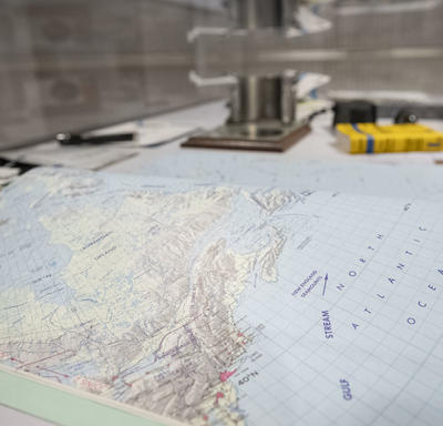 MAP book similar to an atlas used by astronauts in space to help them identify geographical locations from space.
