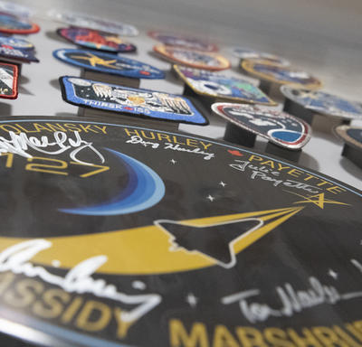 Patches from every Canadian astronaut mission to date.