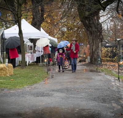 Visitors walking along the path at Rideau Hall.