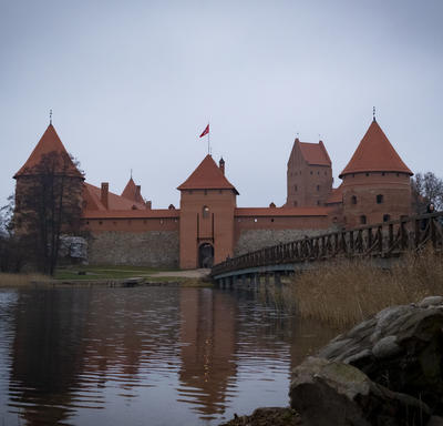 A photo of Trakai Castle.