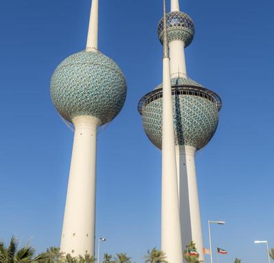 The Kuwait Towers from outside.